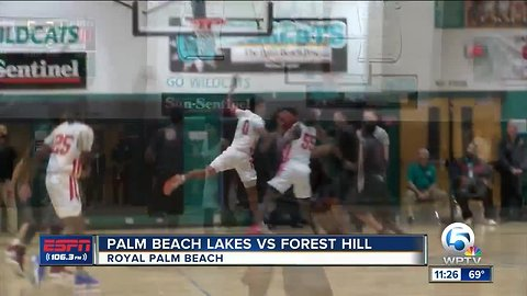 Forest Hill basketball wins district