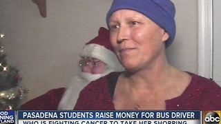 Pasadena students raise money for school bus driver - Video