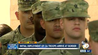 Initial deployment of Calif. troops to the border - Video
