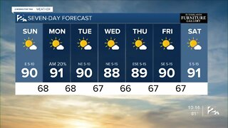 Sunday morning weather forecast for Aug. 16