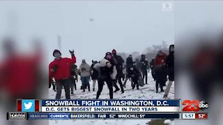 Check This Out: Snowball fight in Washington, D.C.