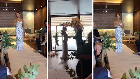 Deaf Groom's Confused When Bride Stops Walking Down Aisle – Tears Flow When She Raises Her Hand