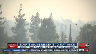 Residents avoid outdoors due to unhealthy air quality