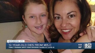 Arizona 12-year-old dies from MIS-C