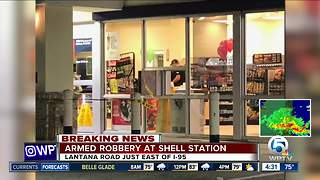 Shell gas station robbed in Lantana - Video