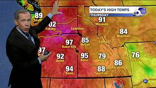 Scott Dorval's On Your Side Forecast: Thursday, August 10, 2017 - Video