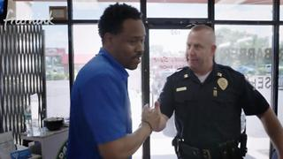 White Cop & Black Barber Team Up To Make Their City Safe - Video