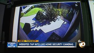 websites tap into live home security cameras - Video