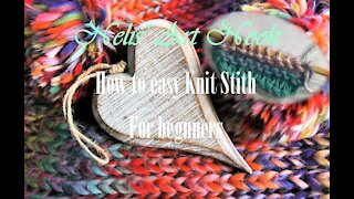 How to knit easy Knit stitch for beginners - Continental knitting (Tutorial #2/3)