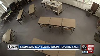 Lawmakers talk controversial teaching exam