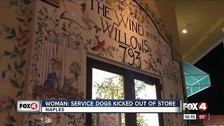 Service dogs kicked out of Naples store