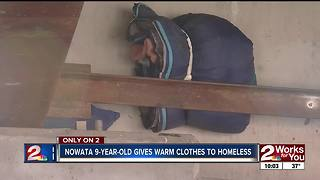 Nowata 9-year-old donates to homeless - Video