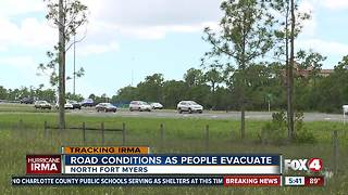 Road conditions as people evacuate - Video
