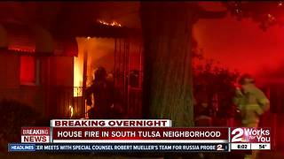 Firefighters respond to house fire in South Tulsa - Video