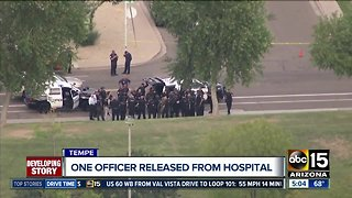 Officer released from hospital after Tempe shooting