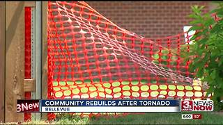 Bellevue community rebuilds after June 16 tornado - Video