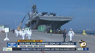 Sailors and Marines deploy