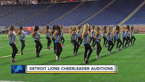 Detroit Lions Cheerleader Tryouts