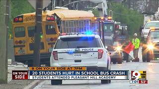 20 students hurt in school bus crash - Video