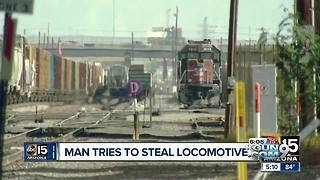 Phoenix man tries turning locomotive into a runaway train - Video