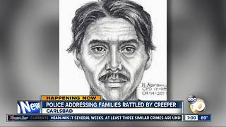 Police address families rattled by creeper
