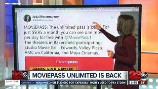 MoviePass Unlimited Movie Subscription is back