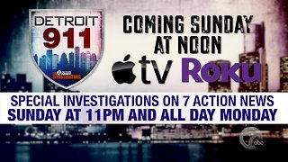 Coming Sunday: Detroit 911: A documentary on Detroit emergency response times