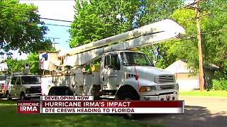DTE Energy crews heading to Florida in preparation of Hurricane Irma - Video