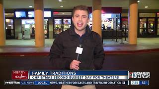 Movie theaters packed on Christmas Day - Video