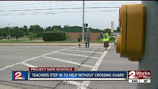 Teachers step in to help without crossing guard