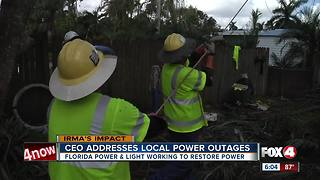 FPL adresses power outage questions