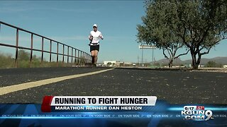Dan Heston runs to fight hunger