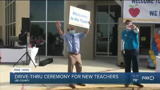 Lee County School District host drive thru ceremony for new teachers