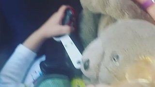 Toddler Goes Third Party, Votes for Her Teddy Bear - Video