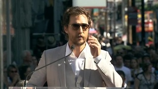 McConaughey gets Walk of Fame star - Video