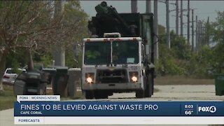 Fines to be levied against Waste Pro