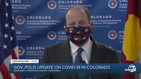 "News conference: Polis urges Coloradans to wear a cloth mask ""at all times"" in public"