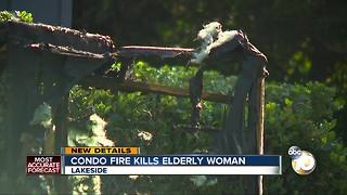 Condo fire kills elderly woman - Video