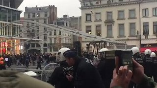 Police Clash With Social Media Star's Fans in Brussels - Video