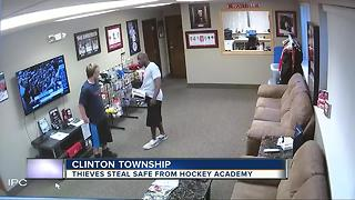 Thieves steal safe from hockey academy - Video