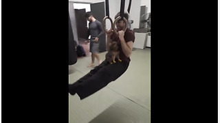 Puppy And Owner Are The Best Work Out Buddies  - Video