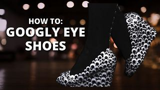 How To Halloween: Googly Eye Shoes - Video