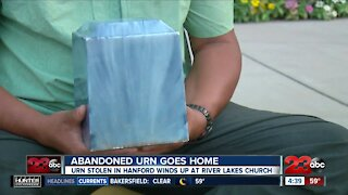 Abandoned urn goes home