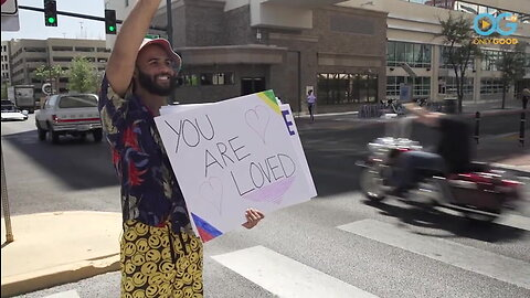 Happy Sign Guy Reaches Out To Spread Smiles For Miles