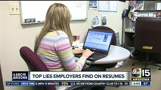 Top lies employers find on resumes - Video