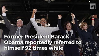 Obama Mentions Himself 92 Times While Campaigning for Fellow Democrat
