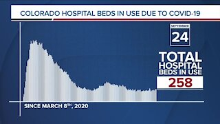 GRAPH: COVID-19 hospital beds in use as of Sept. 24, 2020