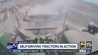 Self-driving tractors in use on Arizona farms - Video