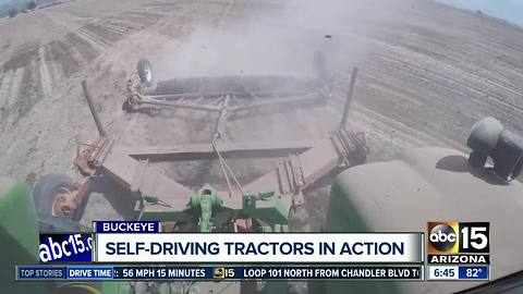 Self-driving tractors in use on Arizona farms
