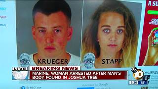 Marine, woman arrested after body found in Joshua Tree